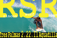 Surfing Puerto Rico - Rincon Surf Report's surf pics from Tres Palmas and Aguadilla during a big February swell February 22, 2011.