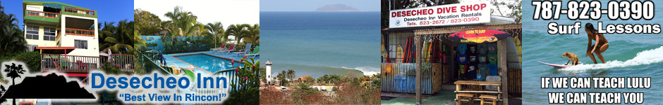 Desecheo Inn, Vacation Rental, Surf Shop, Surf Lessons, all in Rincon, Puerto Rico.