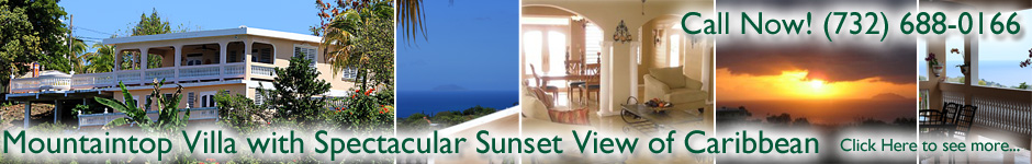 Mountaintop Villa vacation rental in Rincon, Puerto Rico with a spectacular sunset view!