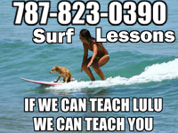 Learn to surf with our surf lessons right here in Rincon, Puerto Rico.