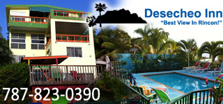 Desecheo Inn, vacation rental in Rincon, Puerto Rico with a view of Domes, Indicators, and Marias Beach