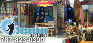 Desecheo Surf Shop in Rincon, Puerto Rico right on Marias Beach