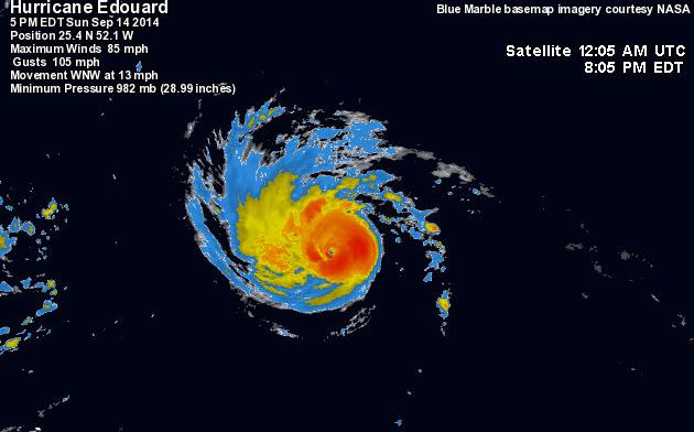 Hurricane Edouward will make perfect waves for sufing Puerto Rico.