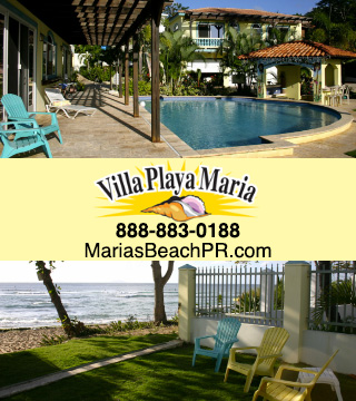 Beachfront Luxury Villa vacation rental in Rincon, Puerto Rico with a spectacular sunset view right at Maria's Beach!