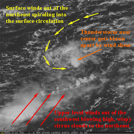 wind shear keeping the tropics on lockdown