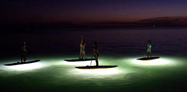 night time paddle boarding, rincon paddle boards