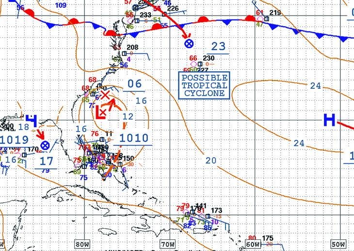Latest model run from NOAA.