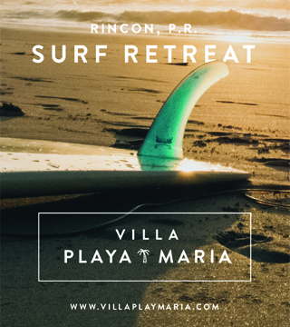 Villa Playa Maria Surf Retreat in Rincon, Puerto Rico with a spectacular sunset view right at Maria's Beach!