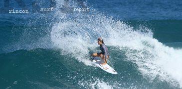 rincon surf report - quincy davis surfing hurricane Nicole swell in Puerto RIco.