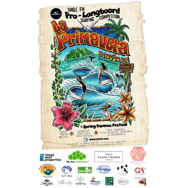 La Primavera Pro Longboard Surfing Competition 2017