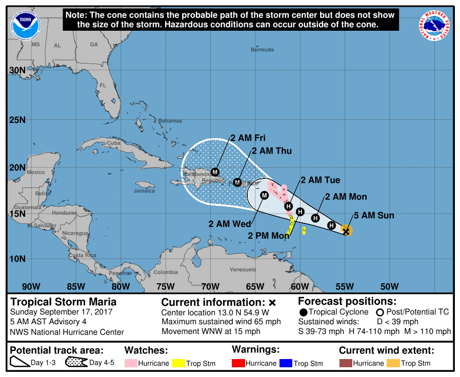Destruction awaits Rincon, Puerto Rico from future Hurricane Maria.