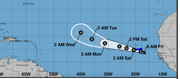 Possible Tropical Swell on the way for Surfing Puerto Rico.