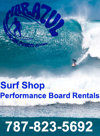 Mar Azul Surf Shop in Rincon, Puerto Rico with performance board rentals.